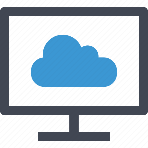 cloud, monitor, online, upload icon