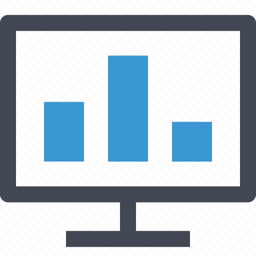 chart, data, monitor, online icon