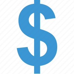 dollar, money, online, sign icon