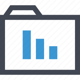 chart, data, folder, online icon