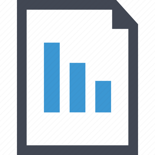 chart, data, online, paper icon
