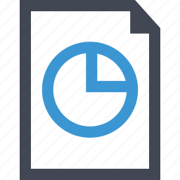 document, online, paper, pie icon