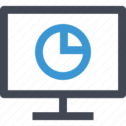 chart, monitor, online, pie icon