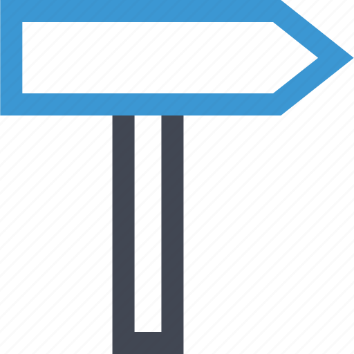 go, online, road, sign icon