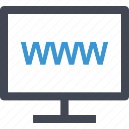 computer, internet, monitor, online, www icon