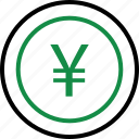 business, buy, currency, money, now, wealth, yen icon