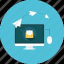 computer, mail, message, online, send, sending
