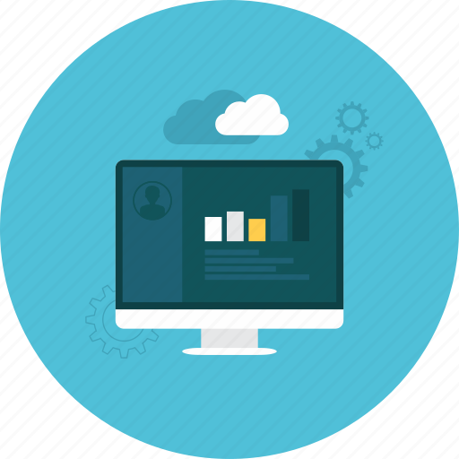 account, business, cloud, computer, online, setting, statistics icon