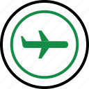 air, airline, airplane, business, expense, money, travel icon