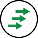 arrows, business, forward, go, next, poin, pointing icon