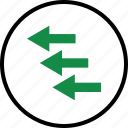 arrows, business, left, point, pointing, previous icon
