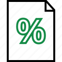 document, layout, money, page, percentage, rate icon