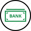 bank, banking, bill, business, money, note icon