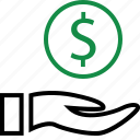 business, currency, dollar, money, rich, sign, wealth icon