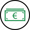 business, currency, euro, money, pay, sign icon