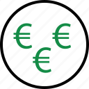 business, euro, money, rich, sign, wealth icon