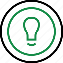 brilliant, bulb, business, good, idea, light icon
