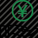 business, coin, hand, hands, money, rich, yen icon