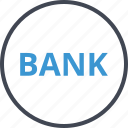bank, banking, money, online, web icon