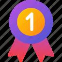 award, badge, champion, medal, ribbon, trophy, winner