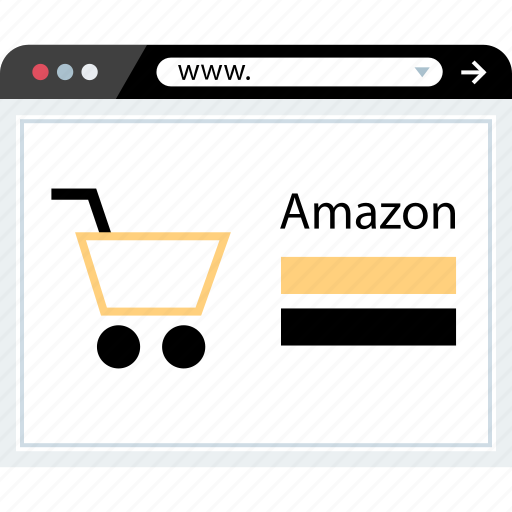amazon, homepage, shopping, web icon