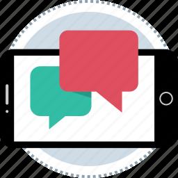 bubble, chat, mobile, talk icon