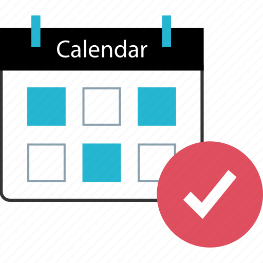check, mark, schedule, secured icon