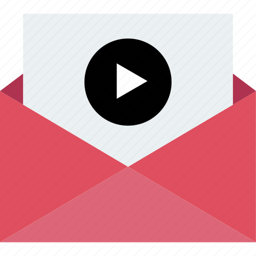email, player, vidoe, youtube icon