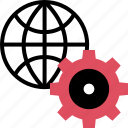 gear, internet, online, options, setup, web icon