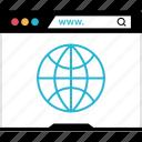browser, globe, internet, online, web