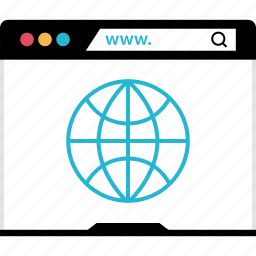 browser, globe, internet, online, web icon