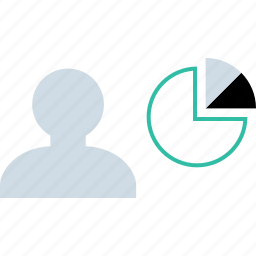 chart, graphic, person, user icon
