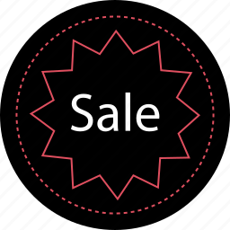 sale, sign, tag icon
