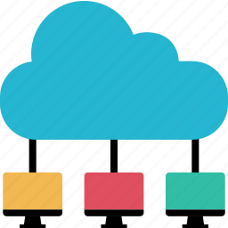 cloud, computers, internet, online, servers, web icon