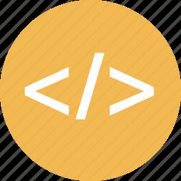code, dvelopment, internet, online, sign, web icon