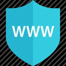 internet, online, shield, visit, web, www icon