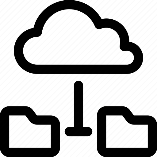 cloud, connected, data, folders, internet, online, server icon