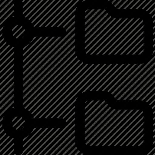 connected, data, folder, network, online, organization, transfer icon