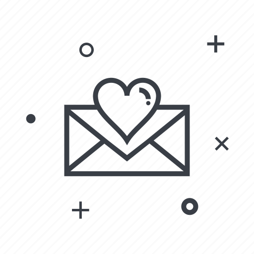 date, dating, love, message icon