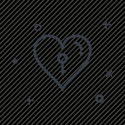 date, dating, key, love, online, romantic, wedding icon