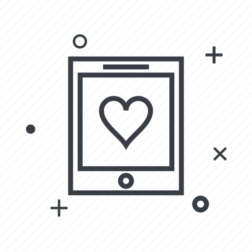 dating, love, romantic, tablet, wedding icon
