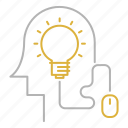 bulb, creative, education, idea, online, smart icon