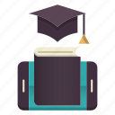apps, book, education, graduation, online education