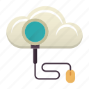 cloud, education, find, online, online education, search icon