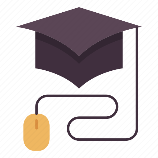 Graduation, hat, online, online education, study icon - Download on Iconfinder
