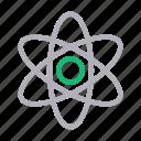 atom, education, molecule, nuclear, science icon