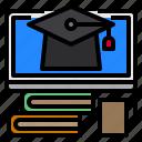book, education, graduate, monitor, screen