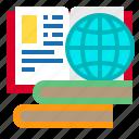 book, education, elearning, globe, laptop, online