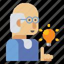 lecturer, male, man, professor icon