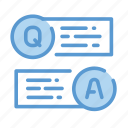 questions, tests, online exam icon